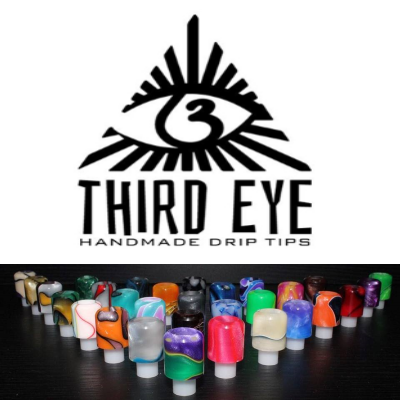 Third Eye Driptips Custom -  USA made, drip tips for RDA/RBA
