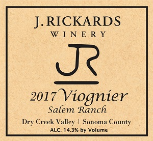 2017 Viognier, Salem Ranch