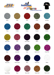 PerfecPress Glitter Color Chart