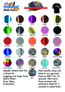 Soft Stretch Foil Color Chart