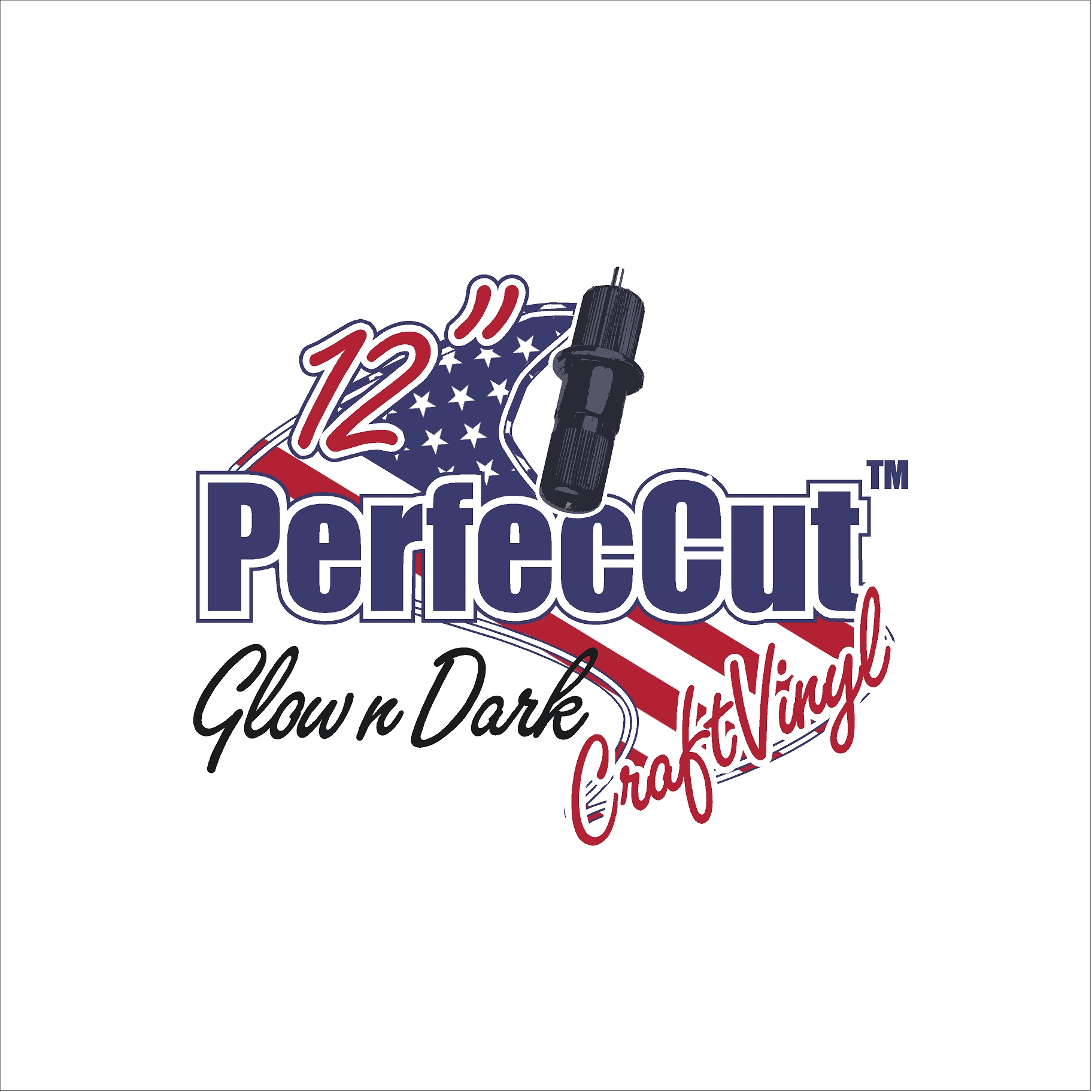 "12"" PerfecCut Glow n Dark Craft Vinyl"