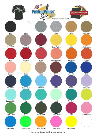 PerfecPress Color Chart