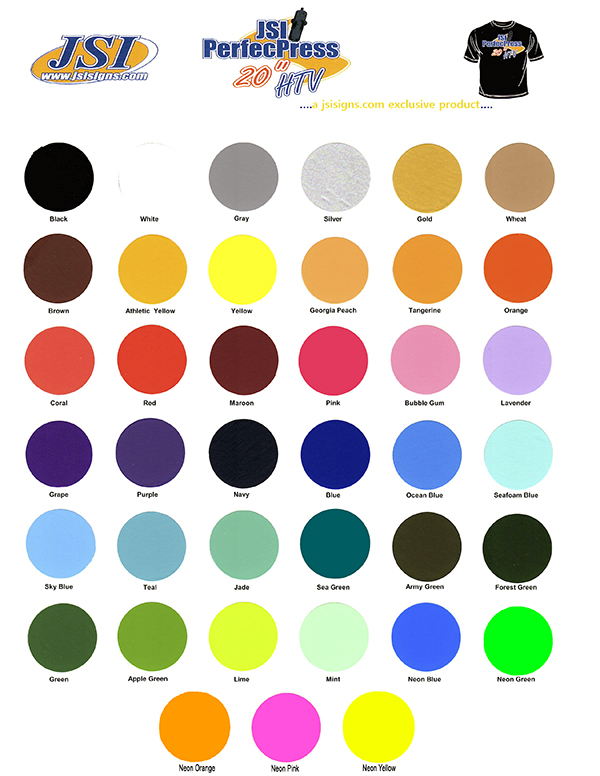 PerfecPress Soft Color Chart THUMBNAIL