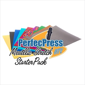 "12"" PerfecPress Stretch Metallic Starter Pack (20 Sheets)"