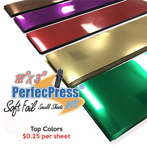 "PerfecPress 25 Cent 12"" x 3"" Soft Foil Sheet THUMBNAIL"
