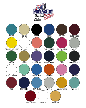 Perfeccut 2018 Color Chart