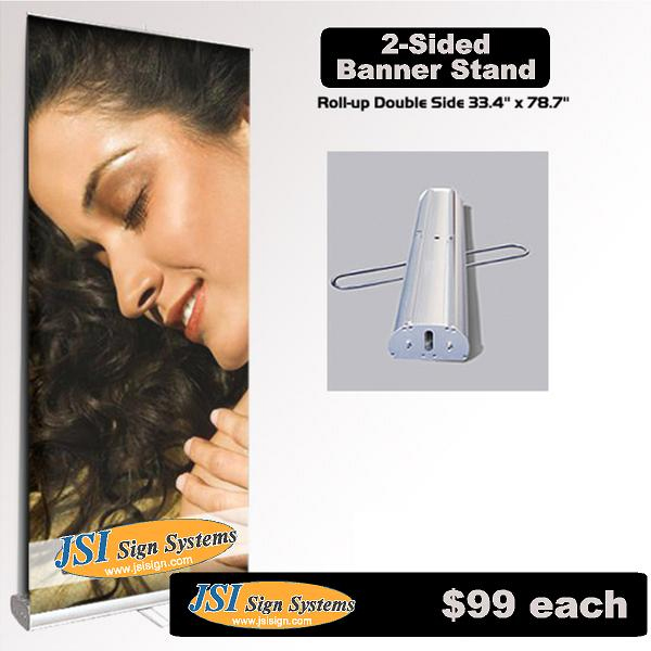 Retractable Banner Stand Double Sided 33.4 IN X 78.7 IN THUMBNAIL