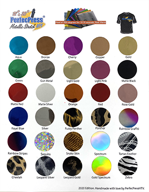 Soft Stretch Foil Color Chart MAIN