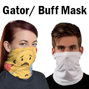 Blank Gaiter/Buff Mask for Sublimation: W/ & W/O Pockets and Filters THUMBNAIL