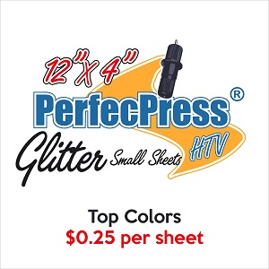 "PerfecPress 25 Cent 12"" x 4"" Glitter Sheets"