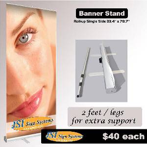 Retractable Banner Stand 1 sided  33.4 IN X 78.7 IN THUMBNAIL
