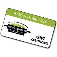 Cooking School Gift Certificate