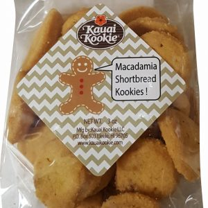 Bite-Sized Macadamia Nut Shortbread Cookies 3 oz  x 12 Holiday Stocking Stuffer set