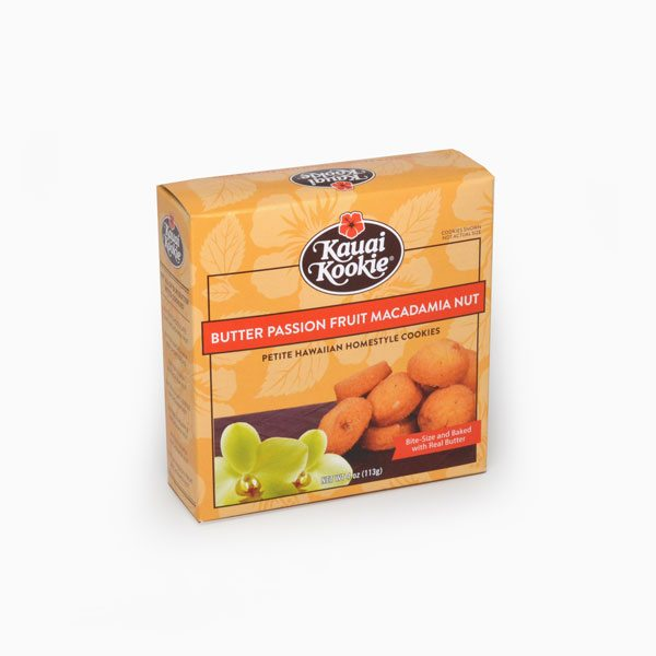 Bite-Sized Passion Fruit Lilikoi Macadamia Nut Cookies 4 oz