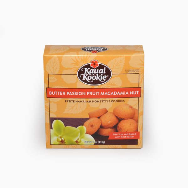 Bite-Sized Passion Fruit Lilikoi Macadamia Nut Cookies 4 oz Mini-Thumbnail