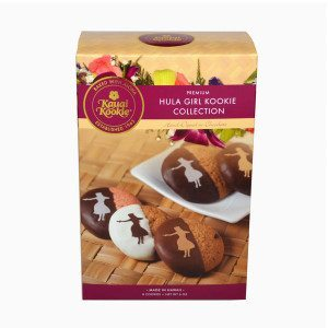 Hula Girl Cookie Collection Hand Dipped Chocolate Covered (7 pc) in Hula Box MAIN