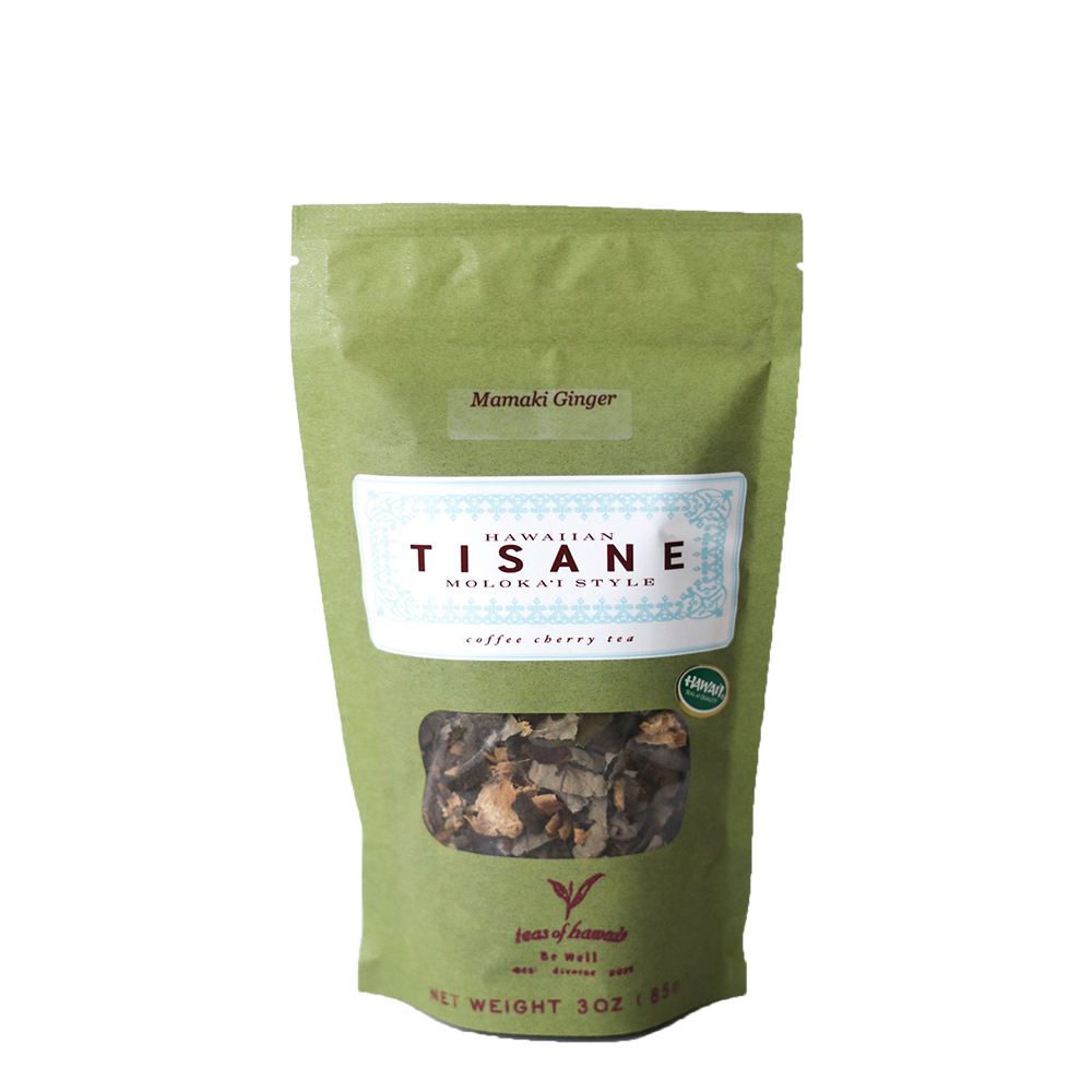 Tisane Coffee Cherry Mamaki Ginger Loose Leaf Tea
