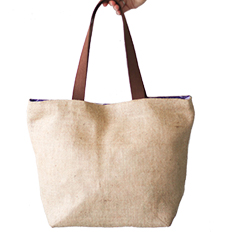 Burlap Tote Bag (lined) SWATCH