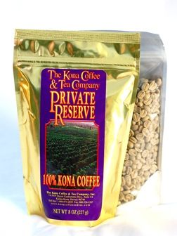 Unroasted, Green Kona Coffee