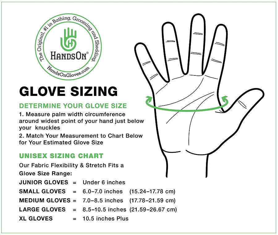 HandsOn Gloves For Grooming Wet Or Dry Won't Stick