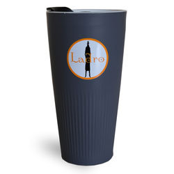 Grey Porcelain Circle Tumbler - 12oz