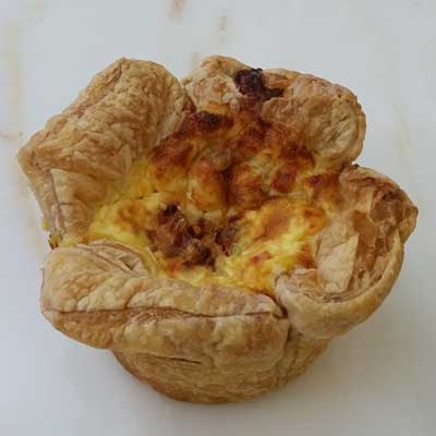 Sausage & Pepper Quiche
