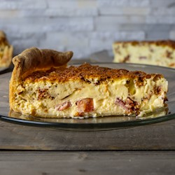Bacon, Ham & Emmental Cheese Quiche THUMBNAIL