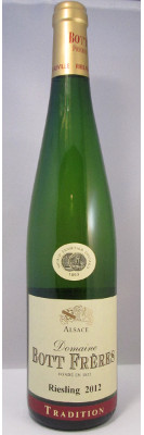 "Domaine Bott Freres Riesling ""Tradition"" 2012 THUMBNAIL"