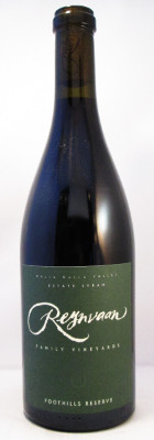 "Reynvaan Family Vineyards Estate Syrah ""Foothills Reserve"" 2018 THUMBNAIL"