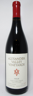 Alexander Valley Vineyards Syrah 2017 THUMBNAIL