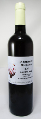"Domaine Jorel ""La Garrigue Maccabeo"" 2003 THUMBNAIL"