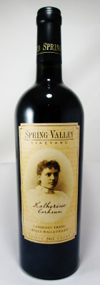 "Spring Valley Vineyard Cabernet Franc ""Katherine Corkrum"" 2013 THUMBNAIL"