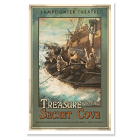 Poster: The Treasure of the Secret Cove LARGE