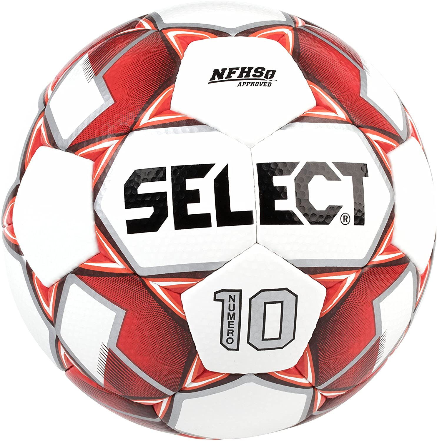 Select Numero 10 Soccer Ball Size 5 - Red THUMBNAIL