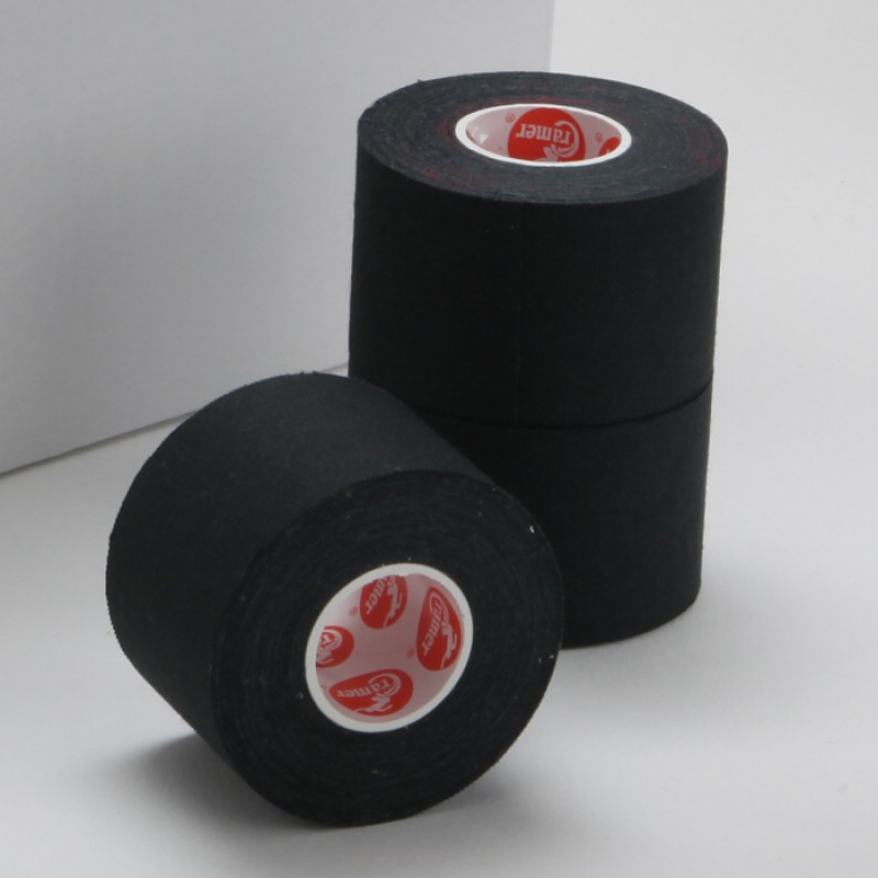 "280100 Cramer 750 Athletic Trainer's Tape - Black  1.5"" x 10 Yards - 32 rolls THUMBNAIL"