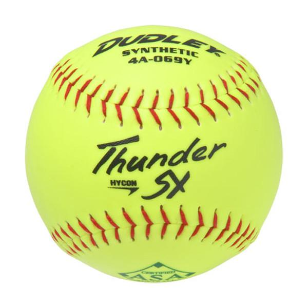 "43921N Dudley Thunder SY Synthetic Cover 12"" Softball 44/375 MAIN"