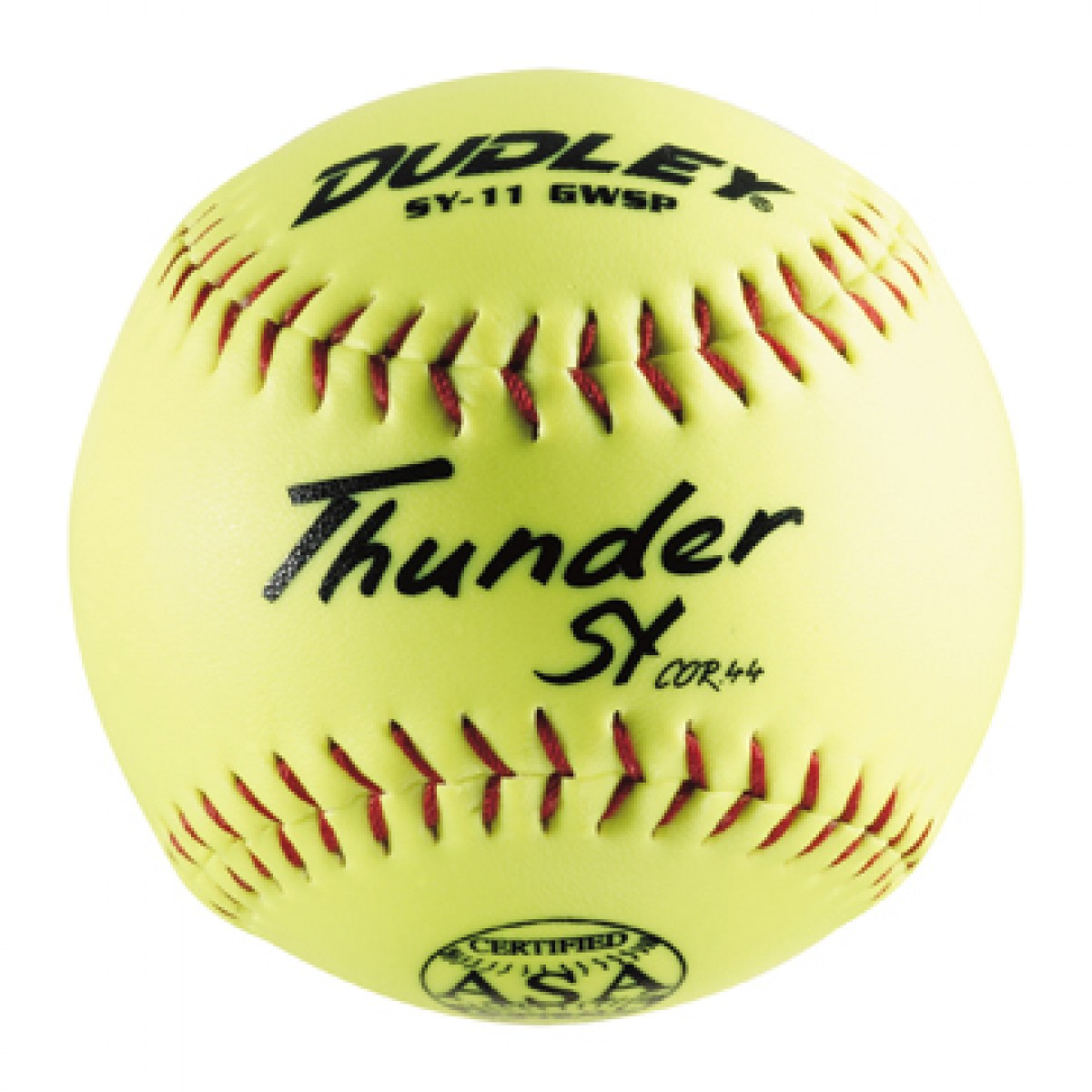 "4A913Y Dudley Thunder SY12RFFP-ASA 12"" Yellow Softball  47/375 MAIN"