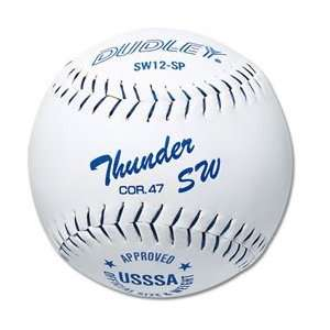4U937 Dudley SW12SP USSSA Synthetic Softball .47c - White THUMBNAIL