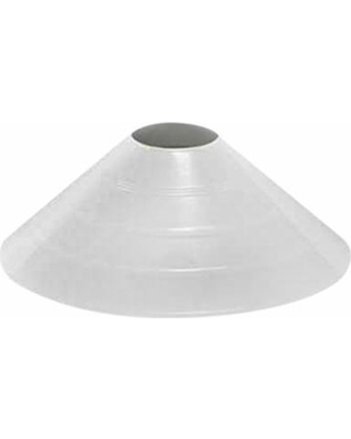 "Markwort 4"" High Saucer Field Marker - White THUMBNAIL"