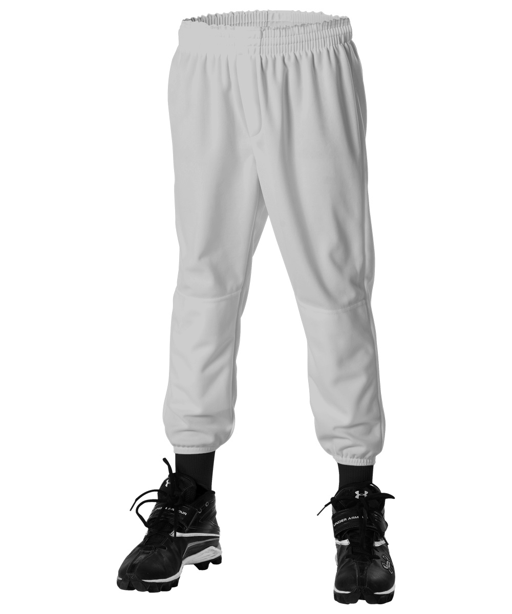 LLBDK2G Alleson Youth Pant with Double Knee Grey MAIN