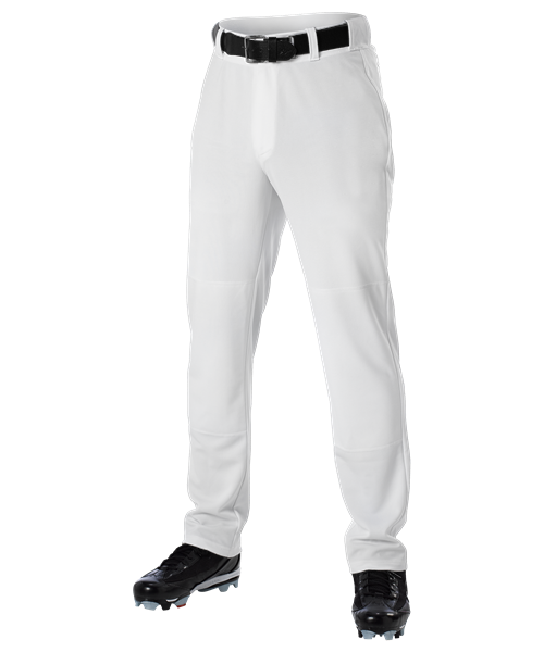 605PW Alleson Adult Pants with Belt Loop - White MAIN