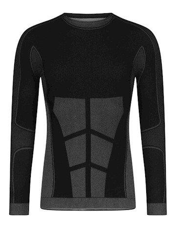 Megmeister Drynamo Hi-Performance Long Sleeve Base Layer- Men's - Charcoal LARGE