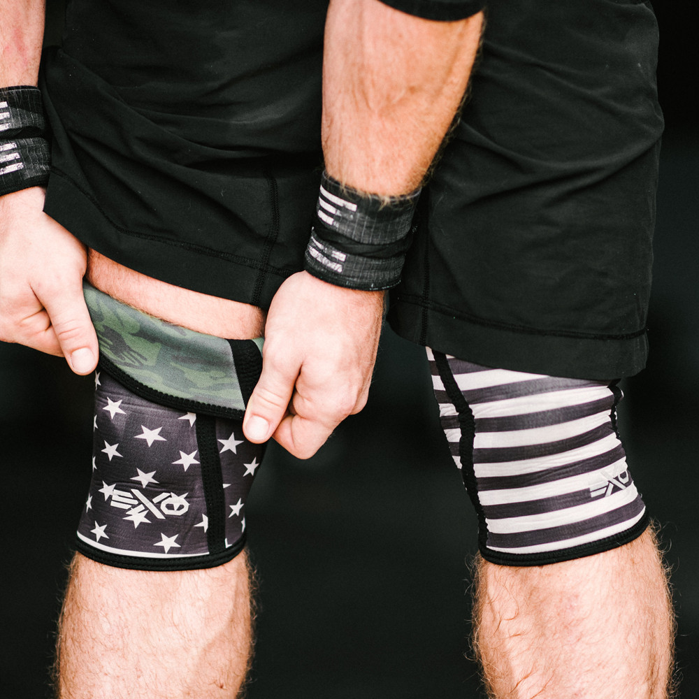EXOKS5-SS EXO Knee Sleeves - 5mm - Pair - Stars and Stripes (Reversible) MAIN