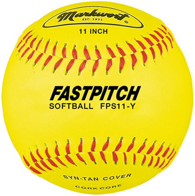 "Markwort 11"" Yellow Synthetic Cover Softball THUMBNAIL"