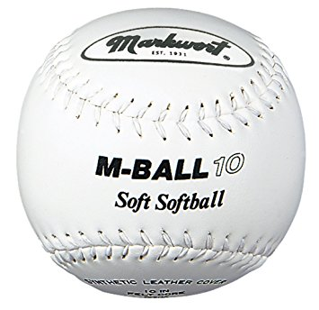 "MBALL10 Markwort Soft Lightweight Softball - 10"" - White THUMBNAIL"
