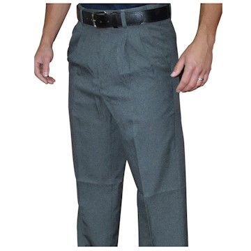 S375C28 Smitty's Pleated Combo Pants Charcoal Grey LARGE