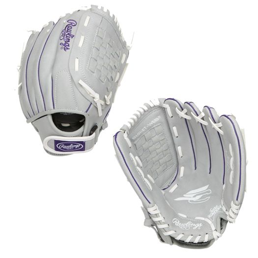 "SCSB12PURH Rawlings Sure Catch Fastpitch Ball Glove Basket Web 12"" - Right Hand MAIN"
