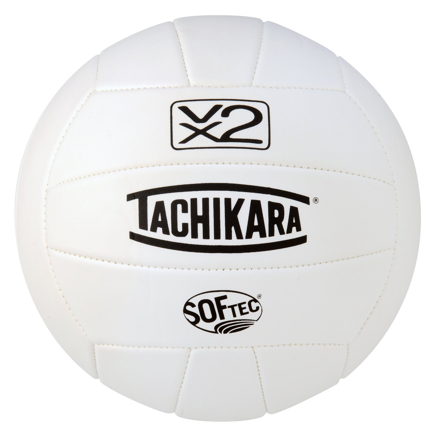 VX2W Tachikara Softec Foam-Backed Panel Volleyball - White MAIN