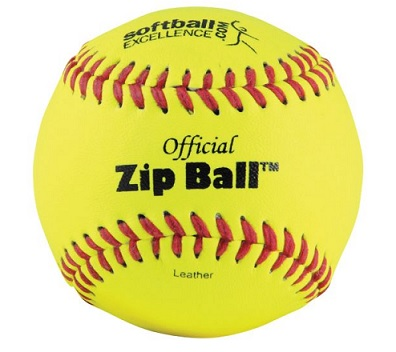 ZIP168 Softball Excellence Official Zip Ball w/DVD THUMBNAIL