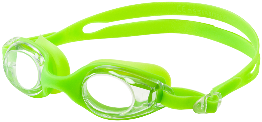 Leader Sandcastle Youth Goggles Clear/Lime Green THUMBNAIL